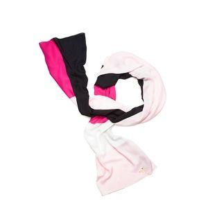 SALE kate spade colorblock pink white black scarf